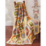 Patons Patchwork Blanket Free Intermediate Knitting Pattern