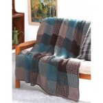 Patons Plaid Texture Afghan Free Easy Knit Pattern