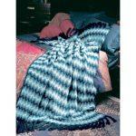 Patons Shaded Chevron Free Intermediate Afghan Knit Pattern