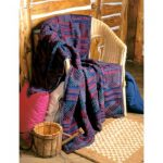 Patons Textured Panels Afghan Free Easy Knit Pattern