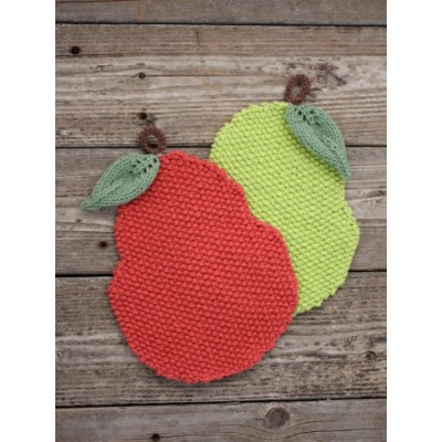 Pear-y Nice Dishcloth Free Easy Knit Pattern