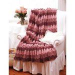 Pink Ripple Blanket Free Easy Knit Pattern