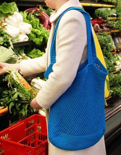 Provence Market Bag Free Knit Pattern ⋆ Knitting Bee