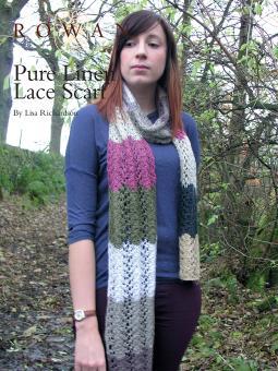 Pure Linen Lace Scarf Free Knitting Pattern