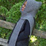 Quarry Hood Garter Stitch Scarf Free Knit Pattern
