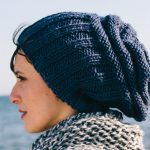 Ribbed slouchy hat free knitting pattern