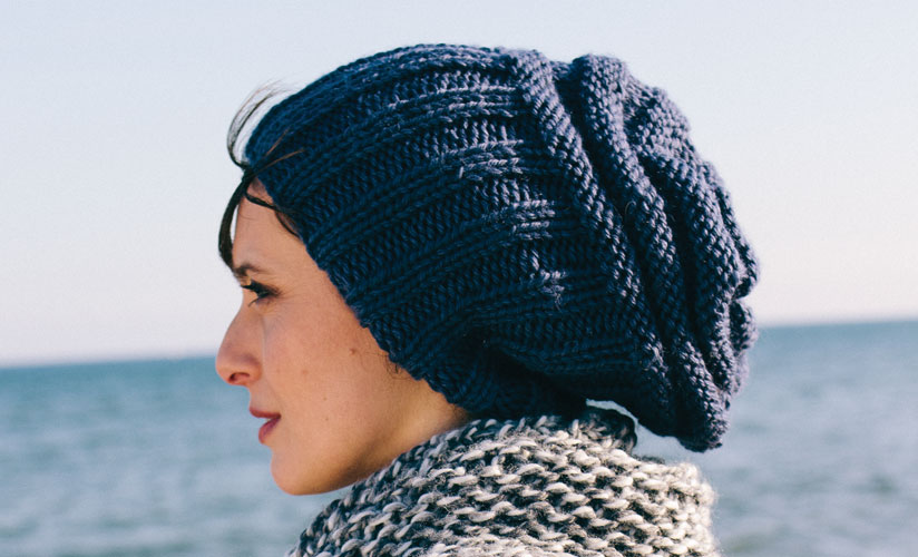 Ribbed Slouchy Hat Free Knitting Pattern Knitting Bee