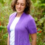 Rooftop Garden Cardigan lace free knit pattern
