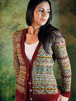 Ross Cardigan Fairisle Cardigan Free Knitting Pattern