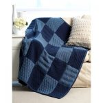 Sampler Blanket Free Knitting Pattern Bernat