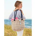 Sea Breeze Beach Bag Free Knitting Pattern
