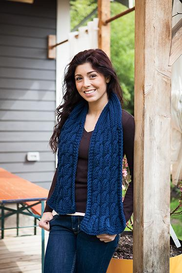 Seaman's Scarf Pattern free knit