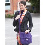 Seed Stitch and Cables Bag Free Knitting Pattern
