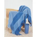 Shades of Blue Blanket Free Intermediate Knitting Pattern
