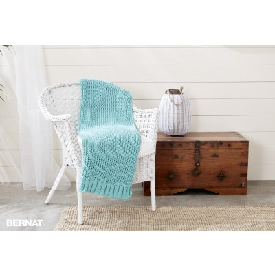 Shaker Knit Rib Blanket Free Pattern