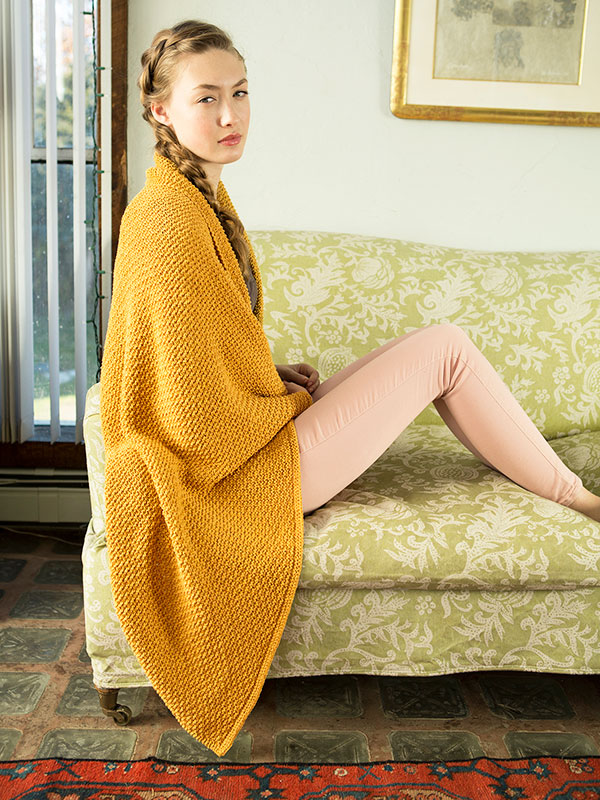 Sigrid Textured Knit And Purl Blanket Free Knitting Pattern