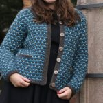 Slip stitch jacket free knitting pattern