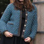Slip stitch jacket free knitting pattern