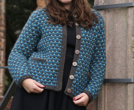 Slip Stitch Jacket Free Knitting Pattern Knitting Bee