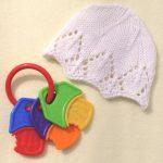 Snowflake baby hat free lace knit pattern