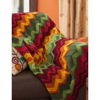 Spicy Chevron Blanket Free Intermediate Knit Pattern