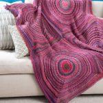 Squared Shades Throw Free Knitting Pattern