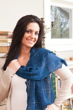 Starry Stole Free Knitting and Bead Pattern