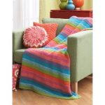 Striped Afghan Free Easy Knitting Pattern