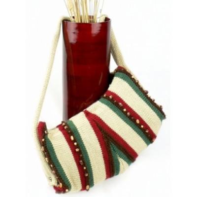 Striped Triangle Purse Free Knitting Pattern