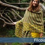 Striped and Cabled Shawl Free Knitting Pattern