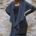 Striped shawl in garter stitch