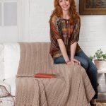 Sweet Scallops Throw Free Knitting Pattern