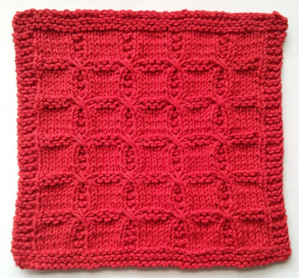 Swish with a Twist free dishcloth knitting pattern