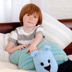 Teddy Bear Pillow Pal Free Knitting Pattern