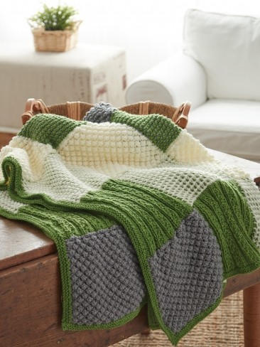 Textured Sampler Afghan Free Easy Knit Pattern ⋆ Knitting Bee
