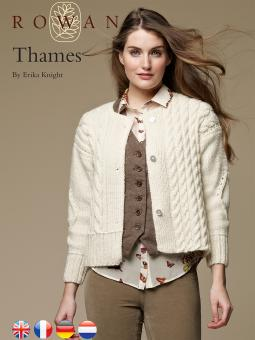 Thames Free Cabled Cardigan Knitting Pattern