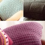 Three variety free knit pillow patterns