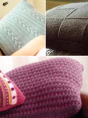 Three variety free knit pillow patterns
