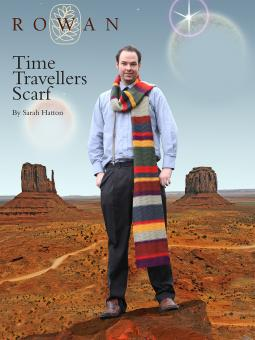 Time Travellers Scarf doctor who free knitting pattern