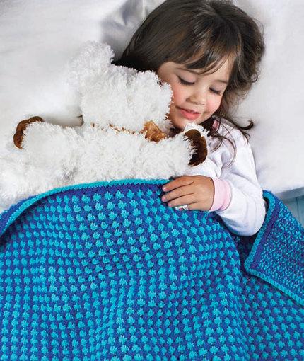 Toddler Blanket Free Knitting Pattern
