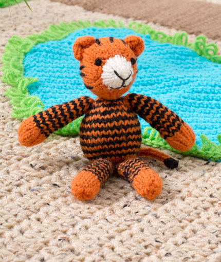 Tracy the Tiger Free Knitting Pattern ⋆ Knitting Bee