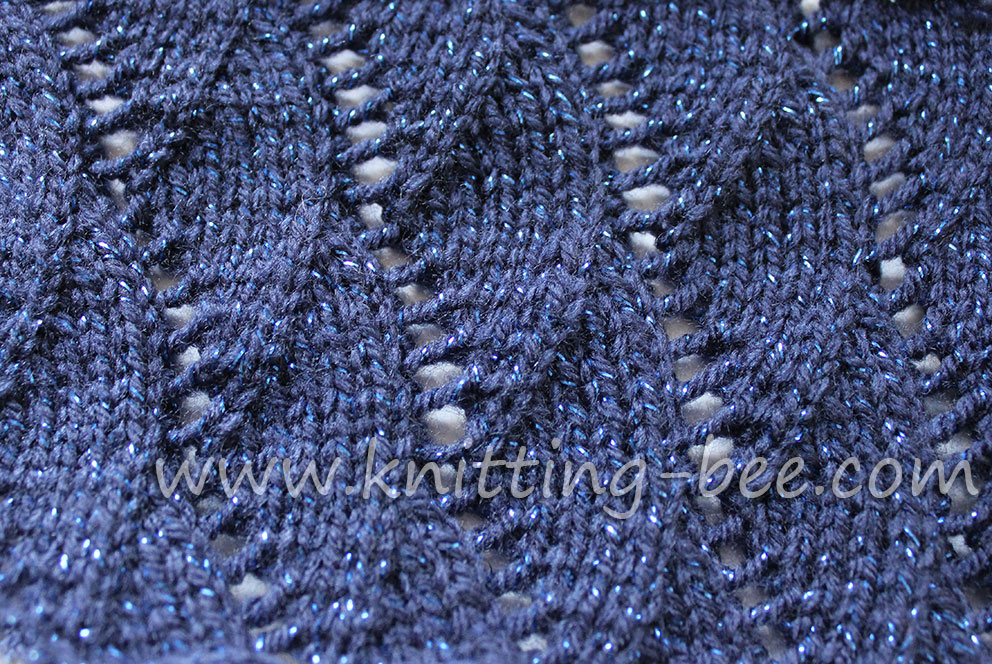 Knitting Yarn Over Purl Stitch : Vertical waves free knitting stitch bee