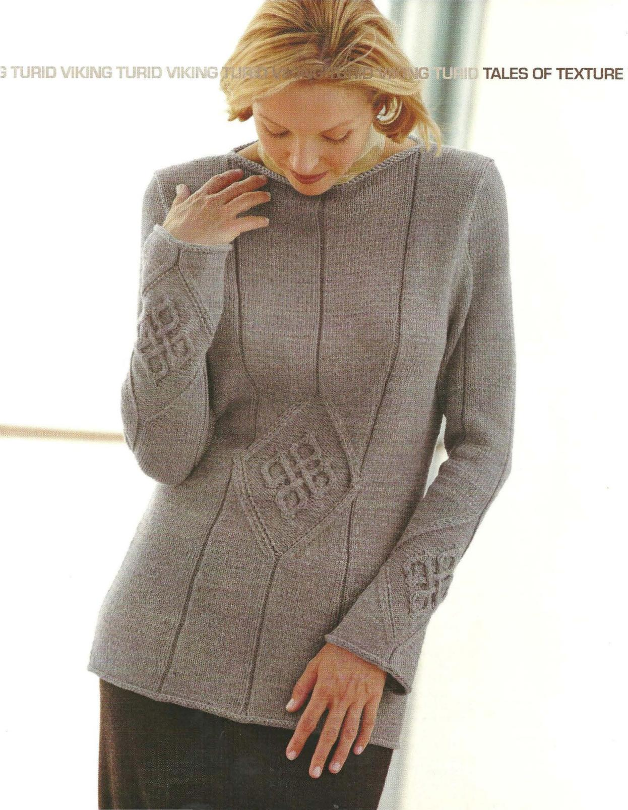 Viking Turid Cabled Sweater Knitting Pattern