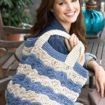 Waves Tote Bag Free Knitting Pattern