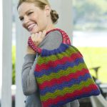 Wavy Shoulder Bag Free Knitting Pattern