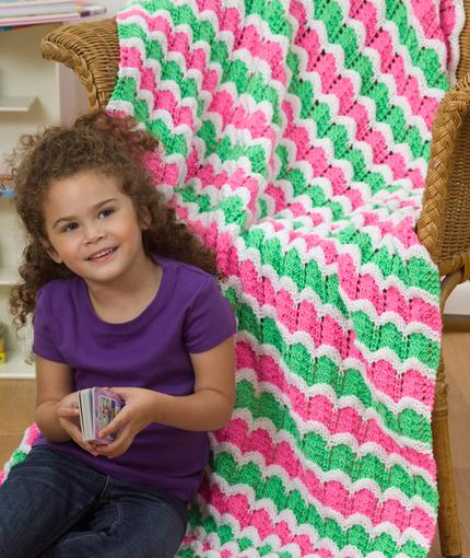 Wild Waves Throw Free Ripple Knitting Pattern
