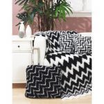 Zebra Throw and Pillows Free Easy Home Decor Knit Pattern