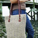 Brighton Lace Beach Bag Free Knitting Pattern