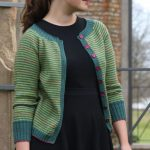 Hyben - a fine cardigan in narrow stripes