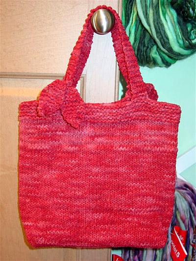 Sueet Suede free bag knitting pattern